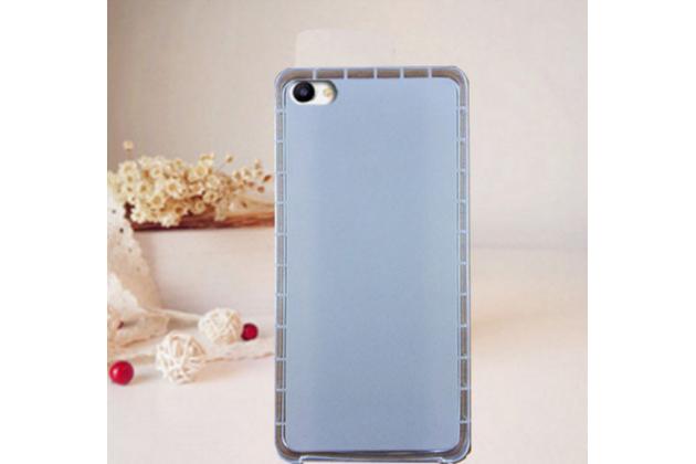 """Фирменная ультра-тонкая силиконовая задняя панель-чехол-накладка для Meizu U20 5.5"""" белая"""