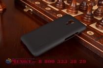 Фирменная задняя панель-крышка-накладка из тончайшего и прочного пластика для Meizu M2 note черная
