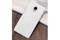 """Фирменная премиальная элитная крышка-накладка из тончайшего прочного пластика и качественной импортной кожи для Meizu M3/ M3 Metal/ M3S/ M3s Mini 5.0"""" (M688Q) """"Ретро под старину"""" белая"""