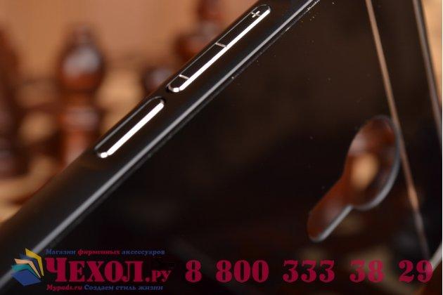 Фирменная металлическая задняя панель-крышка-накладка из тончайшего облегченного авиационного алюминия для Meizu MX5 черная