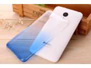 Фирменная из тонкого и лёгкого пластика задняя панель-чехол-накладка для Meizu MX5 прозрачная с эффектом дождя..