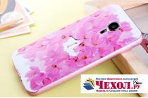"""Фирменная роскошная задняя панель-чехол-накладка из металла с объемным  3D изображением  на Meizu MX5 с безумно красивым рисунком  """"Тематика Роскошные Цветы"""""""