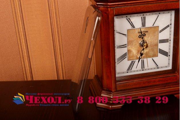 Фирменная задняя панель-крышка-накладка из ультра-тонкого силикона для Meizu MX5 черная