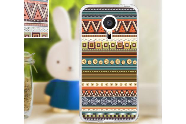 """Фирменная уникальная задняя панель-крышка-накладка из тончайшего пластика для Meizu MX5 с объёмным 3D рисунком """"тематика Эклектические Узоры"""""""
