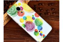 """Фирменная уникальная задняя панель-крышка-накладка из тончайшего пластика для Meizu MX5 с объёмным 3D рисунком """"тематика радужные Пузыри"""""""