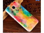 Фирменная уникальная задняя панель-крышка-накладка из тончайшего пластика для Meizu MX5 с объёмным 3D рисунком..