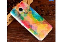 """Фирменная уникальная задняя панель-крышка-накладка из тончайшего пластика для Meizu MX5 с объёмным 3D рисунком """"тематика Северное Сияние"""""""