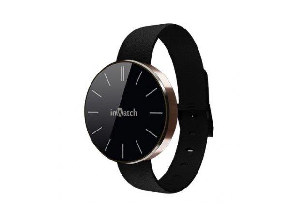 Фирменные оригинальные умные смарт-часы Meizu inWatch Pi в золотом корпусе с черным ремешком (приложение H Band на английском языке)