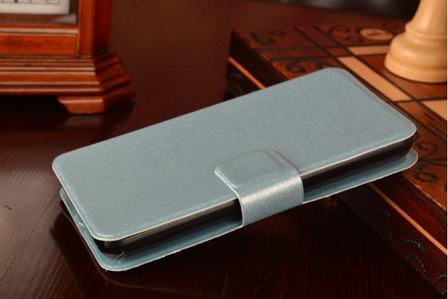 Фирменный оригинальный чехол-книжка для Meizu MX2 голубой водоотталкивающий