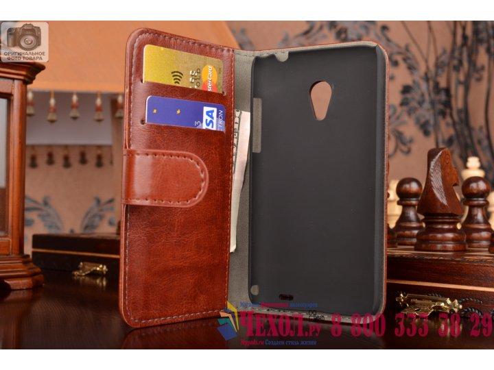 Фирменный чехол-книжка из качественной импортной кожи с мульти-подставкой застёжкой и визитницей для Meizu MX3..