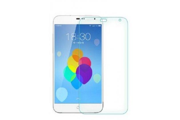 Фирменная оригинальная защитная пленка для телефона Meizu MX3 глянцевая