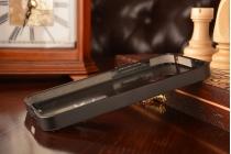Фирменная металлическая задняя панель-крышка-накладка из тончайшего облегченного авиационного алюминия для Meizu MX3 черная