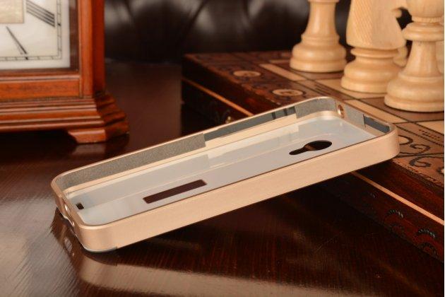 Фирменная металлическая задняя панель-крышка-накладка из тончайшего облегченного авиационного алюминия для Meizu MX3 золотая