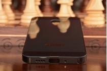 Фирменная металлическая задняя панель-крышка-накладка из тончайшего облегченного авиационного алюминия для Meizu MX4  черная