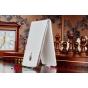 Фирменный оригинальный вертикальный откидной чехол-флип для Meizu MX4 белый из качественной импортной кожи