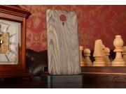 Родная оригинальная роскошная деревянная задняя крышка-панель-корпус для Meizu MX4 серая..