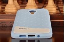 """Фирменная необычная уникальная полимерная мягкая задняя панель-чехол-накладка для Meizu MX4  """"тематика Андроид в черничном  Шоколаде"""""""