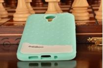 """Фирменная необычная уникальная полимерная мягкая задняя панель-чехол-накладка для Meizu MX4  """"тематика Андроид в мятном шоколаде"""""""