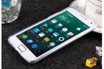 Фирменная ультра-тонкая полимерная из мягкого качественного силикона задняя панель-чехол-накладка для Meizu MX4  белая