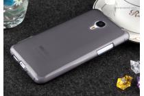 Фирменная ультра-тонкая полимерная из мягкого качественного силикона задняя панель-чехол-накладка для Meizu MX4 черная