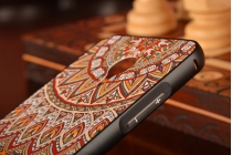 """Фирменная золотая металлическая задняя панель-крышка-накладка из тончайшего облегченного авиационного алюминия для Meizu MX4 с объёмным 3D рисунком """"тематика Эклектические Узоры"""""""