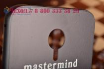 Фирменная металлическая задняя панель-крышка-накладка из тончайшего облегченного авиационного алюминия с рисунком Черепа для Meizu MX4 черная