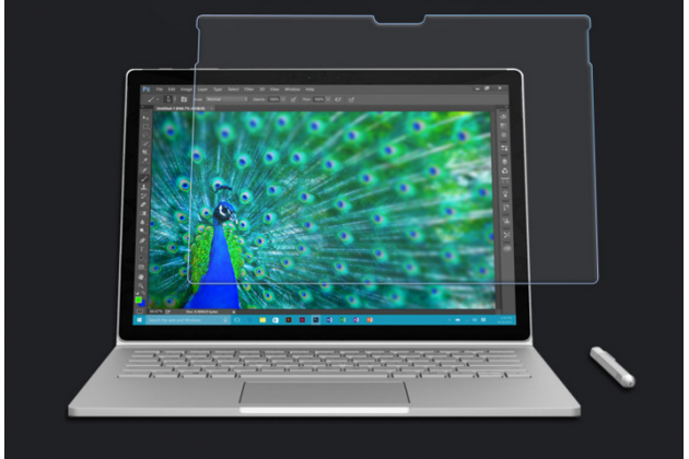 Фирменное защитное закалённое противоударное стекло премиум-класса из качественного японского материала с олеофобным покрытием для планшета Microsoft Surface Book 13.5