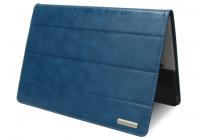 """Фирменный премиальный чехол-обложка-футляр-сумка с подставкой и вырезом под тачпад для Microsoft Surface Book 13.5"""" из импортной кожи синий"""