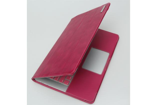 """Фирменный премиальный чехол-обложка-футляр-сумка с подставкой и вырезом под тачпад для Microsoft Surface Book 13.5"""" из импортной кожи розовый"""