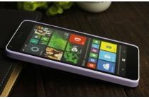 Фирменная задняя панель-крышка-накладка из тончайшего и прочного пластика для Microsoft Lumia 640 фиолетовая