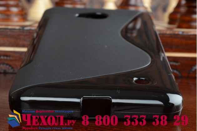 Фирменная ультра-тонкая полимерная из мягкого качественного силикона задняя панель-чехол-накладка для Microsoft Lumia 640 черная