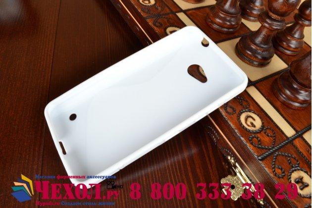 Фирменная ультра-тонкая полимерная из мягкого качественного силикона задняя панель-чехол-накладка для Microsoft Lumia 640  белая