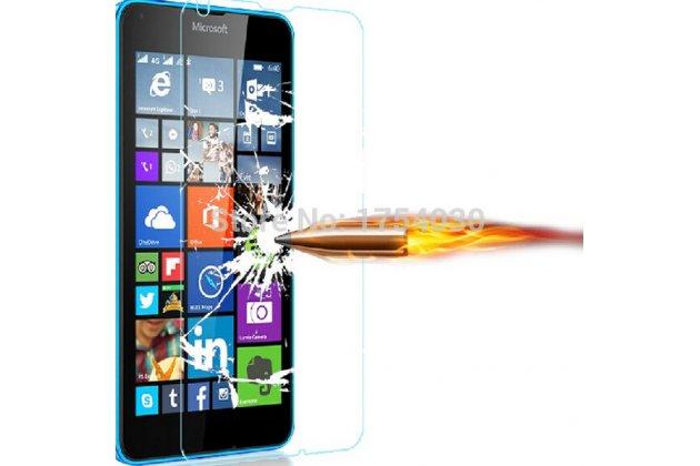 """Фирменное защитное  закалённое противоударное стекло премиум-класса из качественного японского материала с олеофобным покрытием для Microsoft Nokia Lumia 640 5.0"""""""