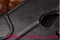 Фирменный чехол-книжка из качественной импортной кожи с мульти-подставкой застёжкой и визитницей для Майкрософт Микрософт Нокия Люмия 640 ХЛ Икс Эль черный