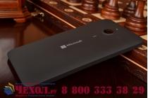 Родная оригинальная задняя крышка-панель которая шла в комплекте для Microsoft Lumia 640 XL черная