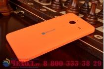 Родная оригинальная задняя крышка-панель которая шла в комплекте для Microsoft Lumia 640 XL оранжевая