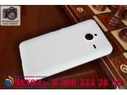 Фирменная задняя панель-крышка-накладка из тончайшего и прочного пластика для Microsoft Lumia 640 XL белая..