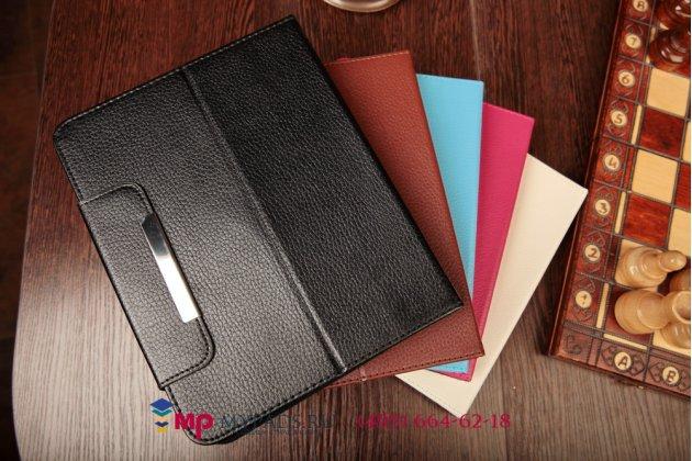 Чехол-обложка для Micromax Canvas Fantabulet F666 черный кожаный