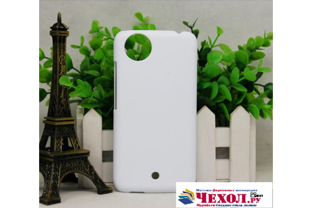 """Фирменная задняя панель-крышка-накладка из тончайшего и прочного пластика для Micromax Canvas A1"""" белая"""