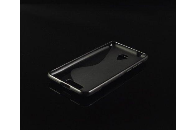 Фирменная ультра-тонкая полимерная из мягкого качественного силикона задняя панель-чехол-накладка для Micromax Canvas Spark Q380 черная