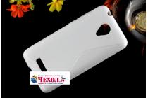 """Фирменная ультра-тонкая полимерная из мягкого качественного силикона задняя панель-чехол-накладка для Micromax Q380 Canvas Spark"""" серая"""