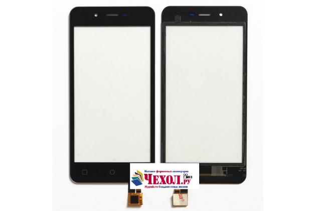 """Фирменное сенсорное стекло-тачскрин на Micromax Q380 Canvas Spark 4.7"""" черный и инструменты для вскрытия + гарантия"""