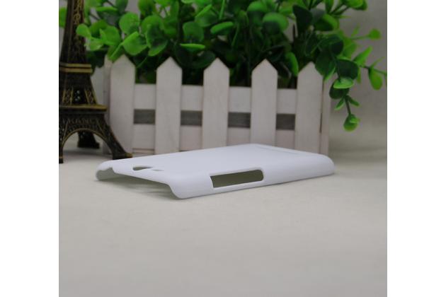 """Фирменная задняя панель-крышка-накладка из тончайшего и прочного пластика для Micromax Canvas Juice Q392 5.0"""" белая"""