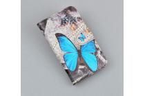 """Фирменный уникальный необычный чехол-книжка для Micromax AQ5001"""" """"тематика радужные Бабочки"""""""