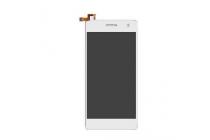 """Фирменный LCD-ЖК-сенсорный дисплей-экран-стекло с тачскрином на телефон Micromax A350 Canvas Knigh 5.0"""" белый + гарантия"""
