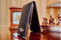 """Фирменный оригинальный вертикальный откидной чехол-флип для Micromax A69 Bolt черный из качественной импортной кожи """"Prestige"""" Италия"""