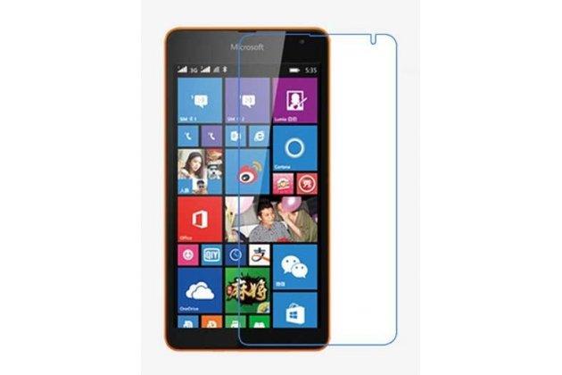 Фирменная оригинальная защитная пленка для телефона Microsoft Lumia 435 глянцевая