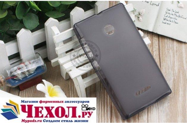 Фирменная ультра-тонкая полимерная из мягкого качественного силикона задняя панель-чехол-накладка для Microsoft Lumia 435 черная