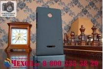 Фирменная задняя панель-крышка-накладка из тончайшего и прочного пластика для Microsoft Lumia 435 черная