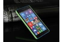 Фирменная задняя панель-крышка пластиковая для Microsoft Nokia Lumia 535 зеленая